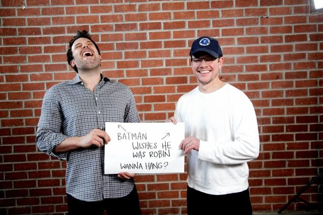 Matt Damon and Ben Affleck Ham It Up For Charity
