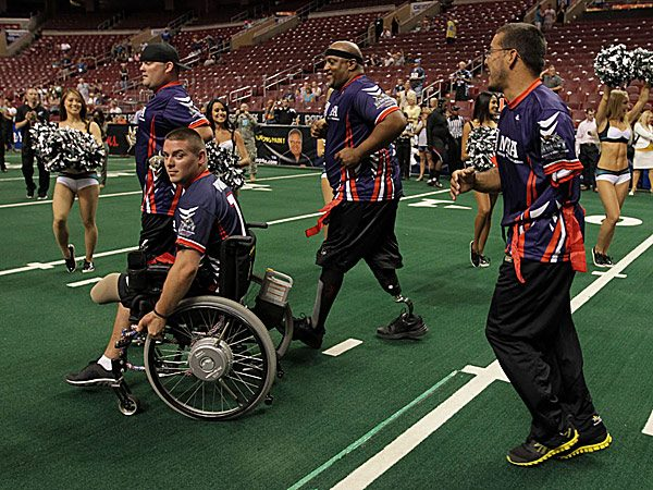 Ex-Eagles Take on Wounded Warriors for Charity