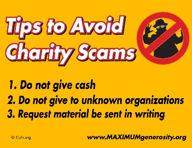 """How Not to Get Scammed By """"Charity"""" Donations"""