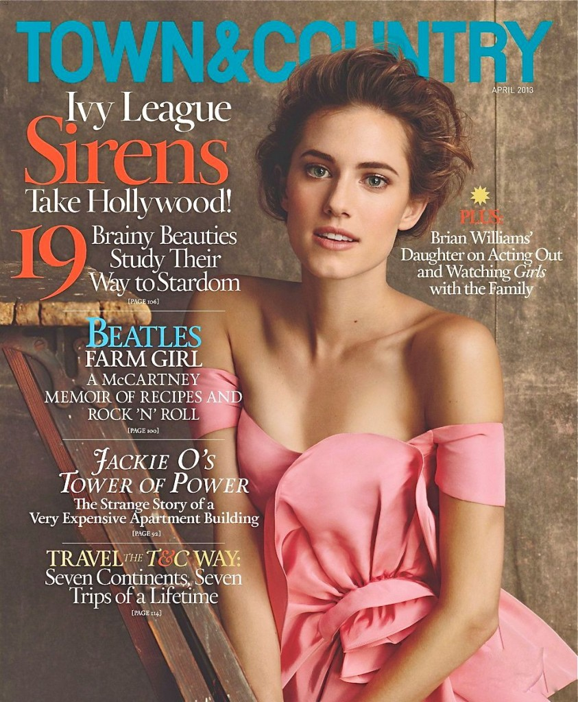 Allison Williams on Town and Country