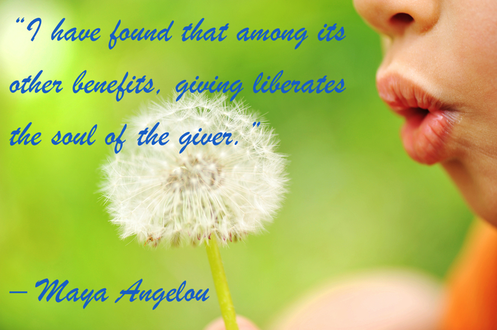 Maya Angelou Philanthropy Quote