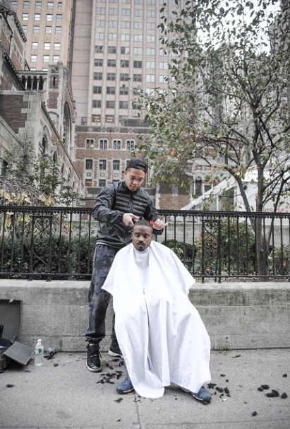 haircuts for the homeless Mark Bustos
