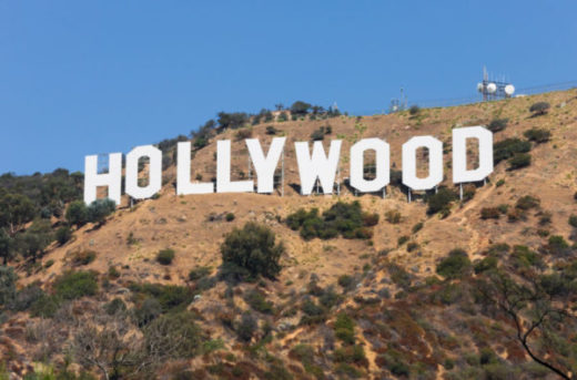 A photo of the Hollywood sign.