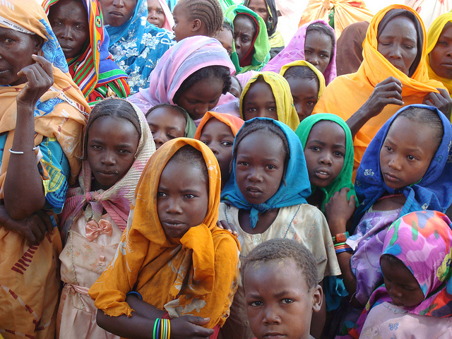 A photo of Sudanese refugees.