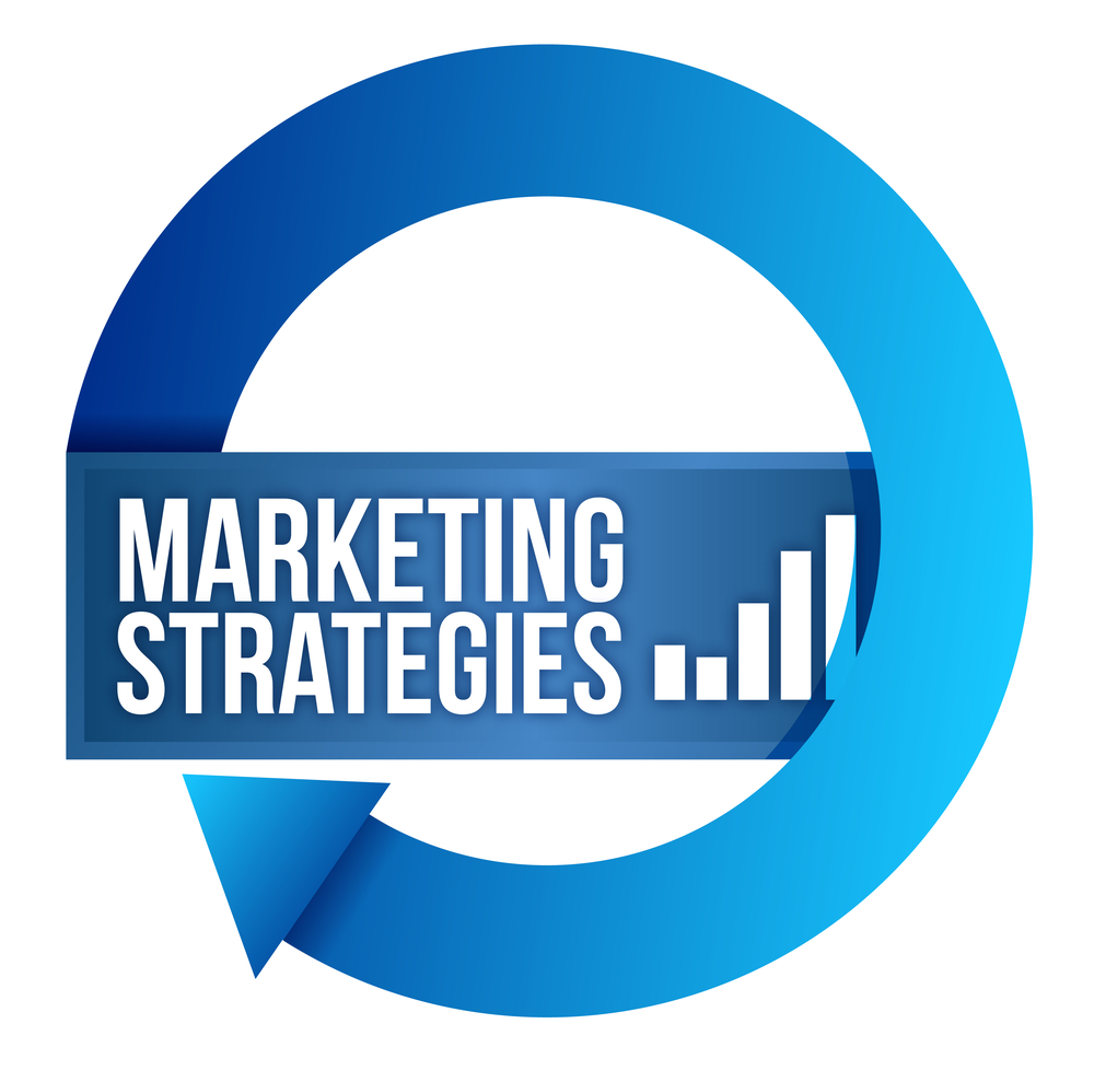 "An image that reads, ""marketing strategies."""