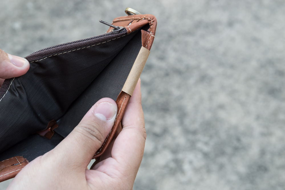 A photo of an empty wallet.