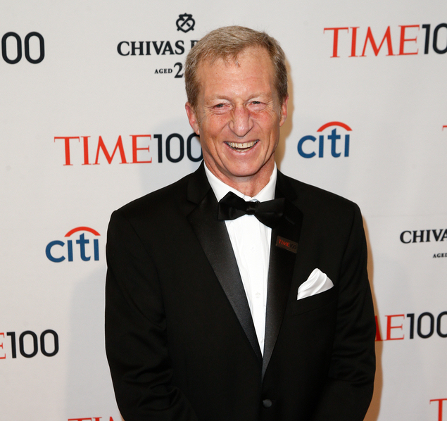 A photo of billionaire philanthropist Tom Steyer taken at the 2014 Time 100 Gala for the Most Influential People in the World.
