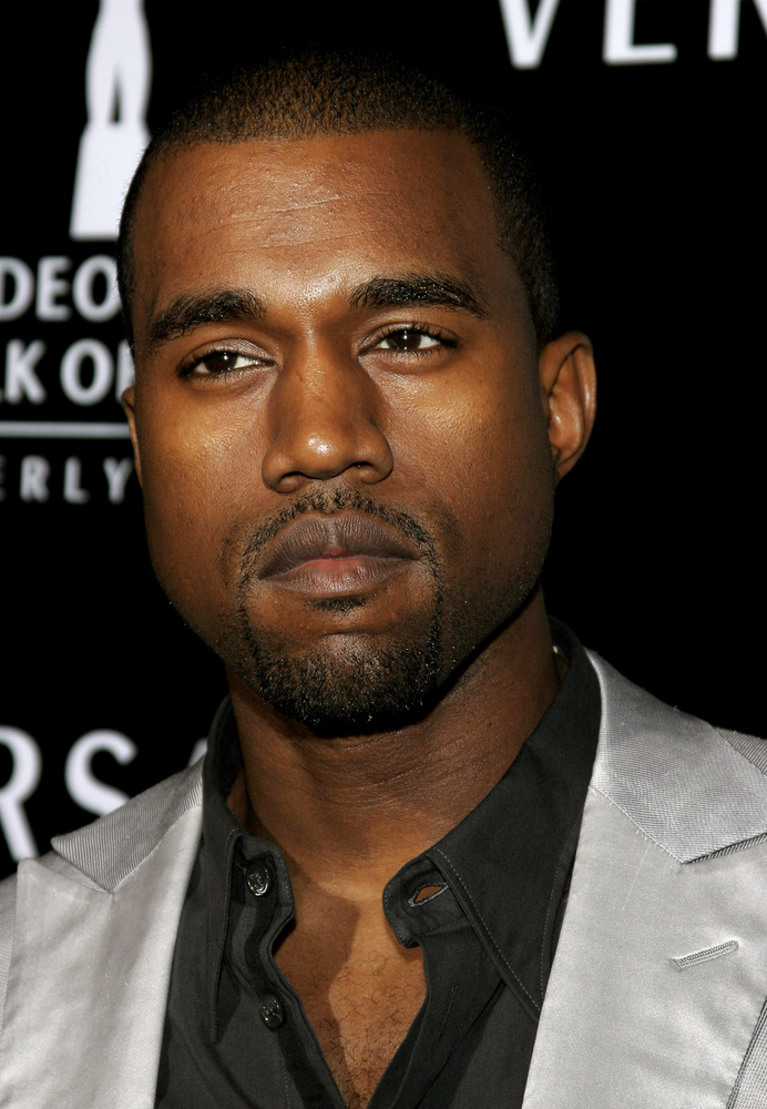 A photo of Kanye West.