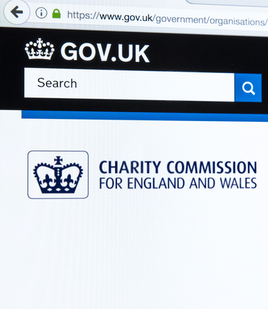 A photo taken of the U.K. Charity Commission's website.