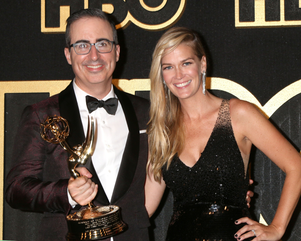 John Oliver and Kate Norley. Oliver offered a $55k donation to Danbury, CT.